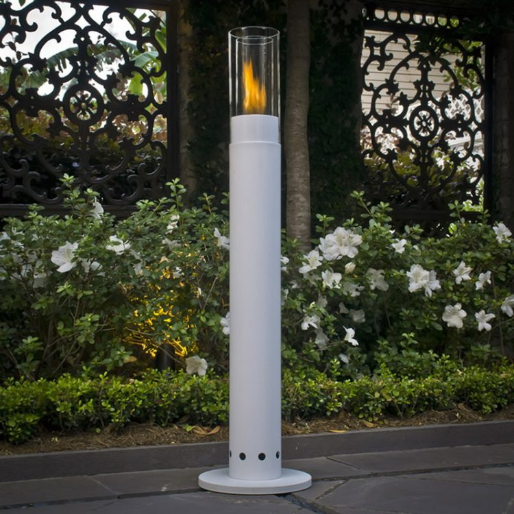 Long Standing Cylinder Shade With Torch Lighting Effect
