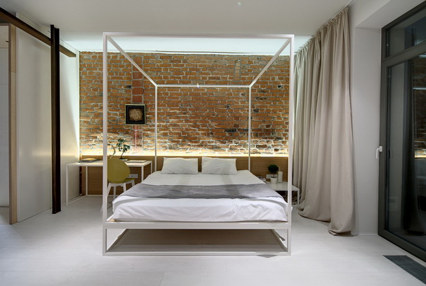 Modern White Canopy Bed