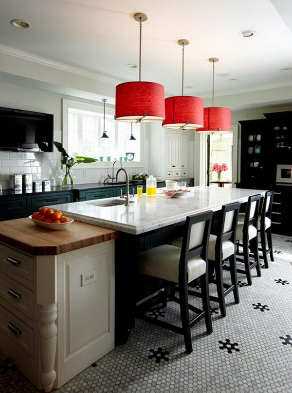 Pendant Lighting For Kitchen Island Bright Maroon Cylinder