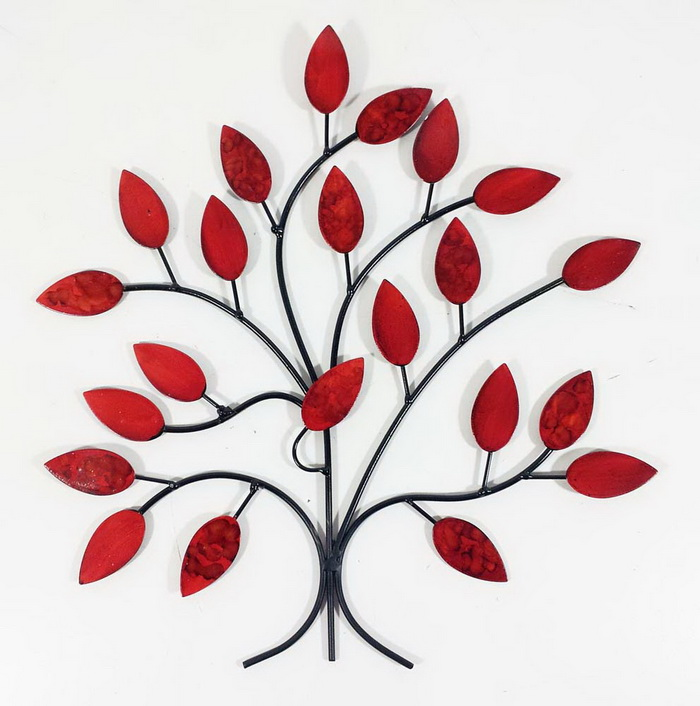 Red Metal Wall Art metal wall art decor: 15 artistic marvelous ideas - home loof