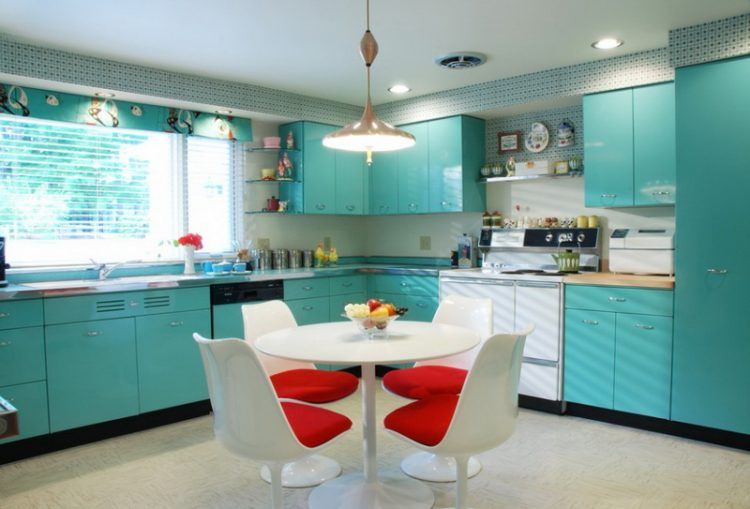 Turquoise Kitchen Design Inspired By The Sea