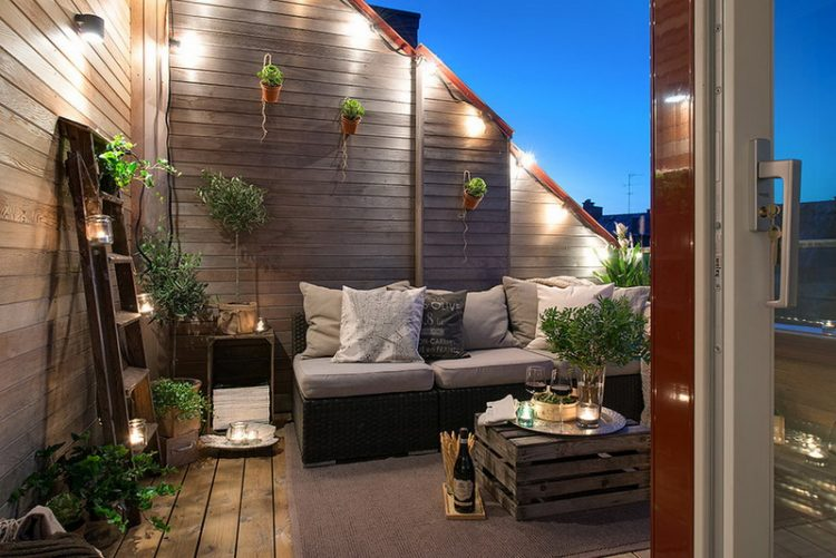 Wall Mounted Outdoor Lighting Design For Terrace