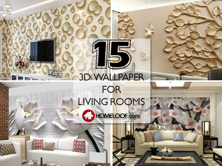 3D Wallpaper for Living Room: 15 Amazingly Realistic Ideas ...
