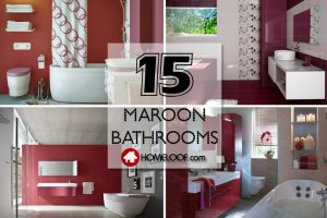 Best Maroon Bathrooms
