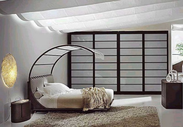 Modern Enignum Style Canopy Bed